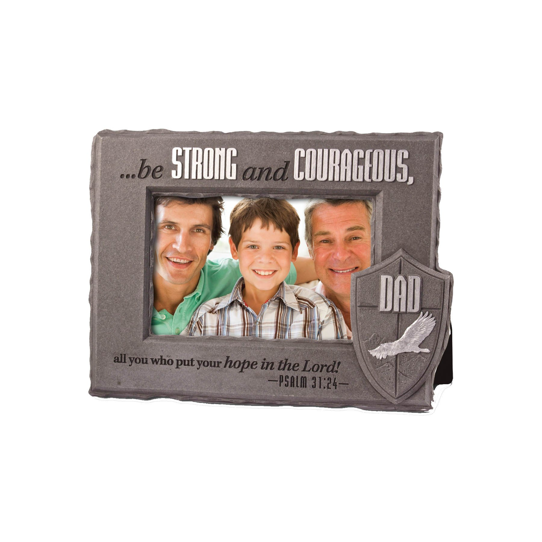 Lighthouse Christian Products He is Your Shield Dad Frame, 4 x 6''