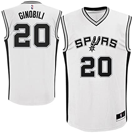 Outerstuff Manu Ginobili San Antonio Spurs  20 White Youth Home Replica  Jersey Small 8 a9bb4b47d