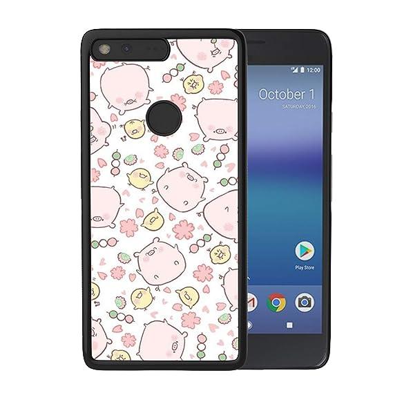 8b3eece0231 LONHAO - Carcasa rígida de Poliuretano termoplástico con Bordes Suaves,  diseño Personalizado, para Google Pixel XL, Color Negro, Happy Pig:  Amazon.com.mx: ...