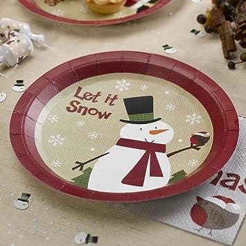 Premium Weddings Pappteller Weihnachten Schneemann 8 Stuck Advent