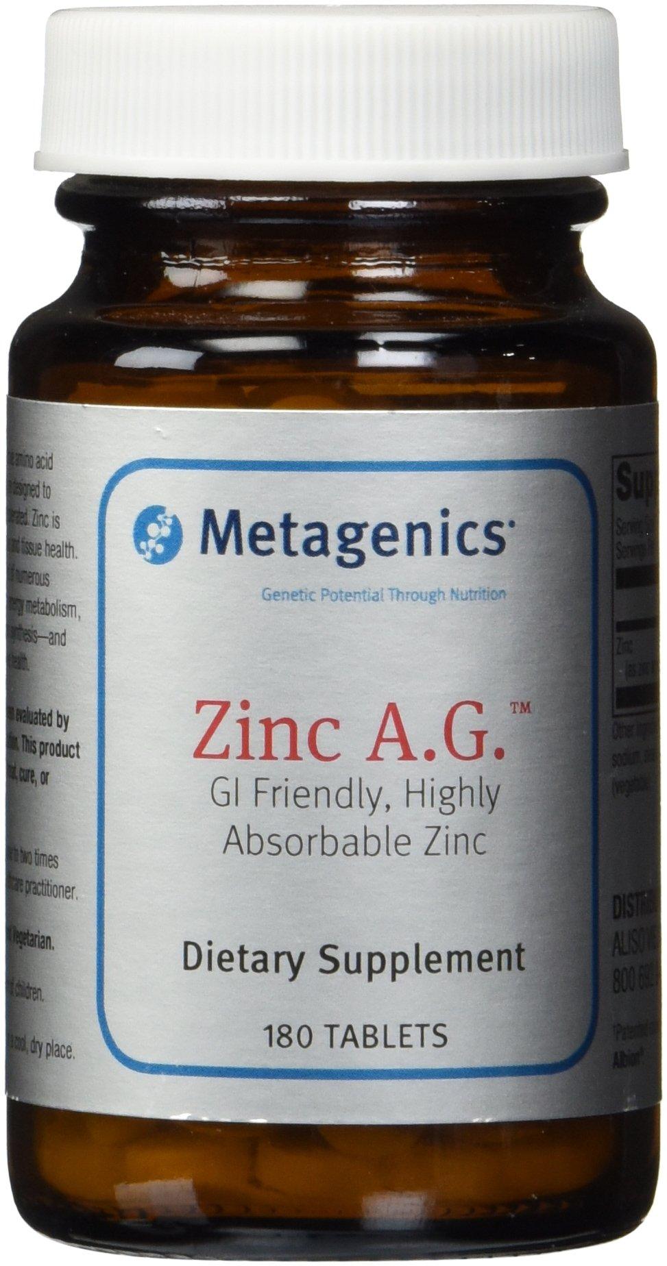 Metagenics Zinc A.G. Tablets, 180 Count