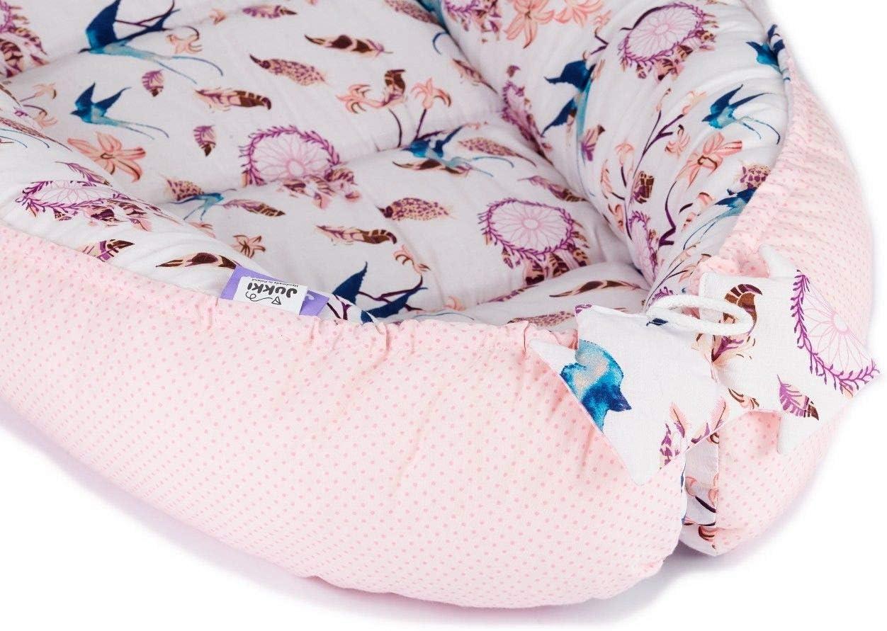 cocoon 100/% coton cale bebe Coussin r/éducteur Lit b/éb/é reducteur de lit bebe Cocon Nid pour nouveau-n/é nourrisson baby nest exotic flamingo