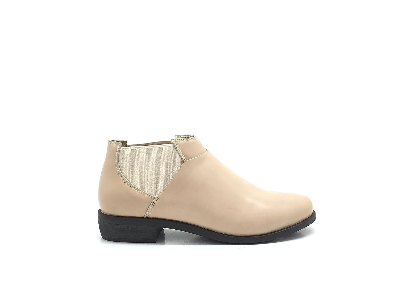 CHIC Chaussure NANA . Chaussure Femme Similicuir, Derbie Richelieu cotés. Style Similicuir, Facile à Enfiler élastique sur Les Deux cotés. Beige 2541e6d - reprogrammed.space