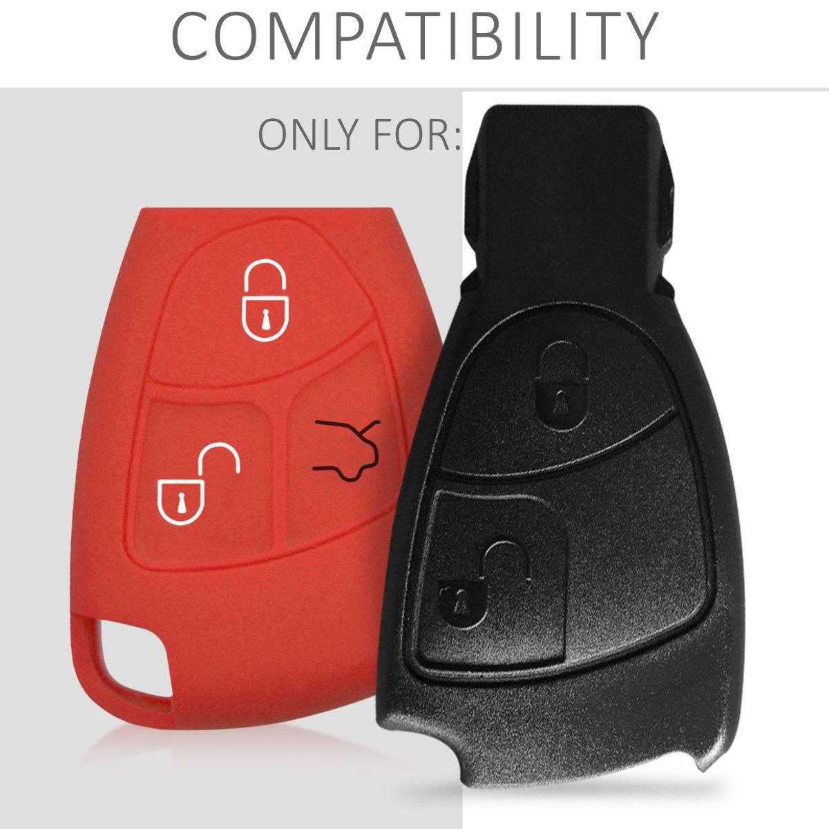 Suave Silicona - Case de Mando de Auto con dise/ño de Rally Carcasa Protectora kwmobile Funda para Llave de 2-3 Botones para Coche de
