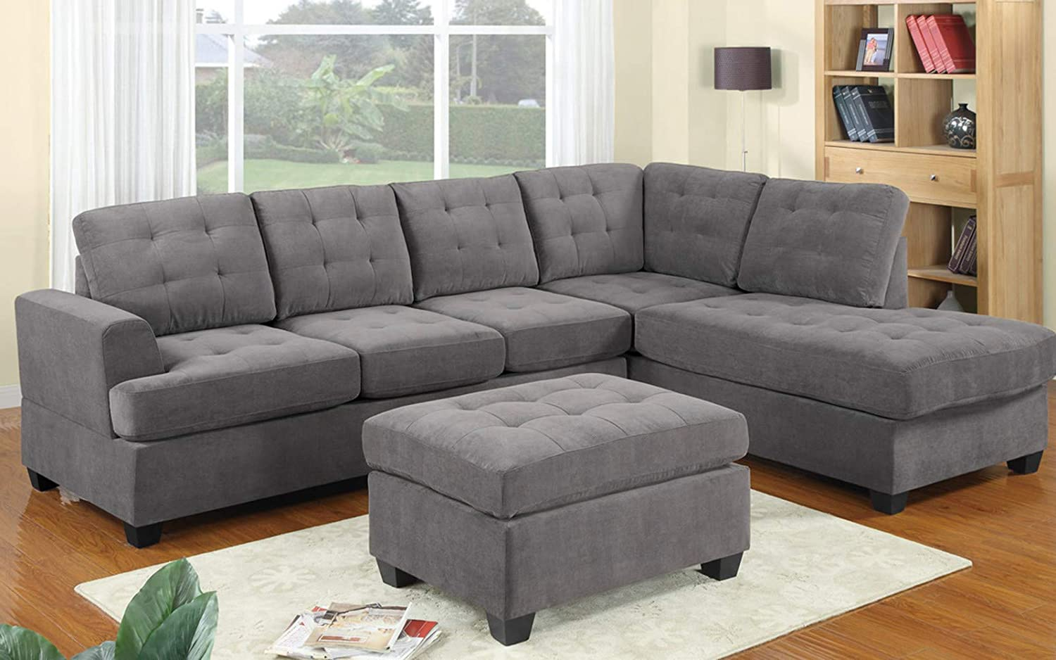 Amazon.com: Sectional Sofa Set, LOKESI 3 Piece Corner Sofa ...