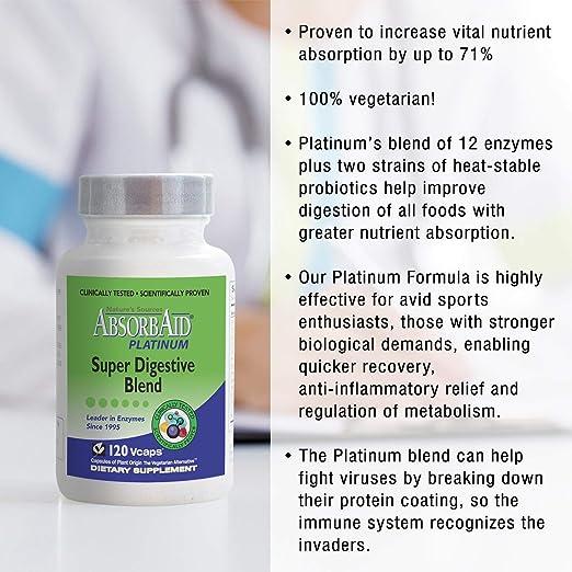 Amazon.com: absorbaid Platinum Super Digestivo mezcla, 120 ...