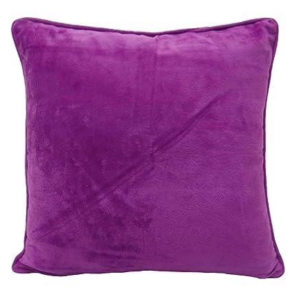 Cojín india Cubierta púrpura Sólido Decoración del hogar ...