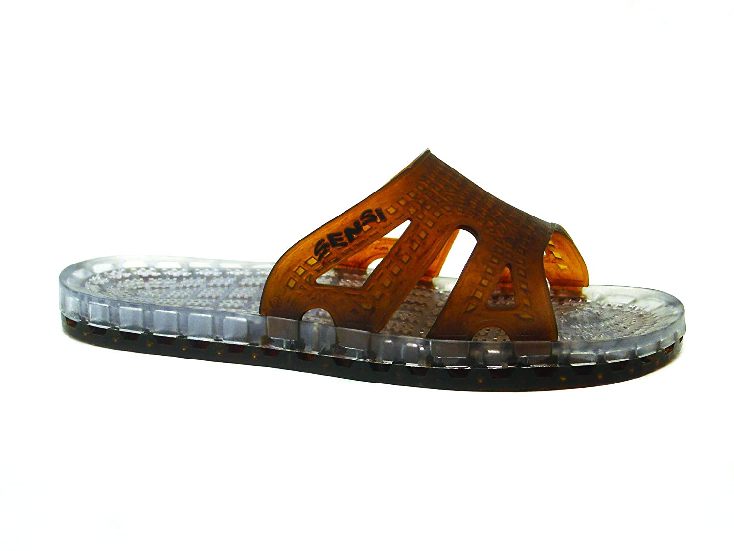 17180b4ba7c6 Amazon.com  Sensi Shower Spa Pool Beach Sandal Waterproof Regatta Basic Spa  Sandals - Tortoise (12)  Beauty