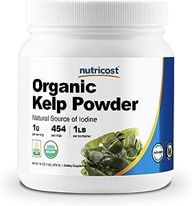Nutricost Organic Kelp Powder (Natural Source of Iodine) 1 LB - USDA Certified Organic, Gluten Free, Non-GMO