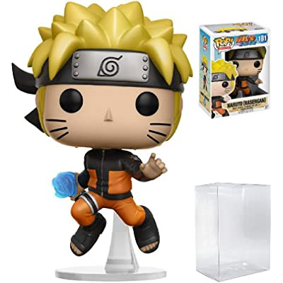 Funko Pop! Anime: Naruto Shippuden - Naruto Rasengan #181 Vinyl Figure (Bundled with Pop Box Protector CASE): Toys & Games