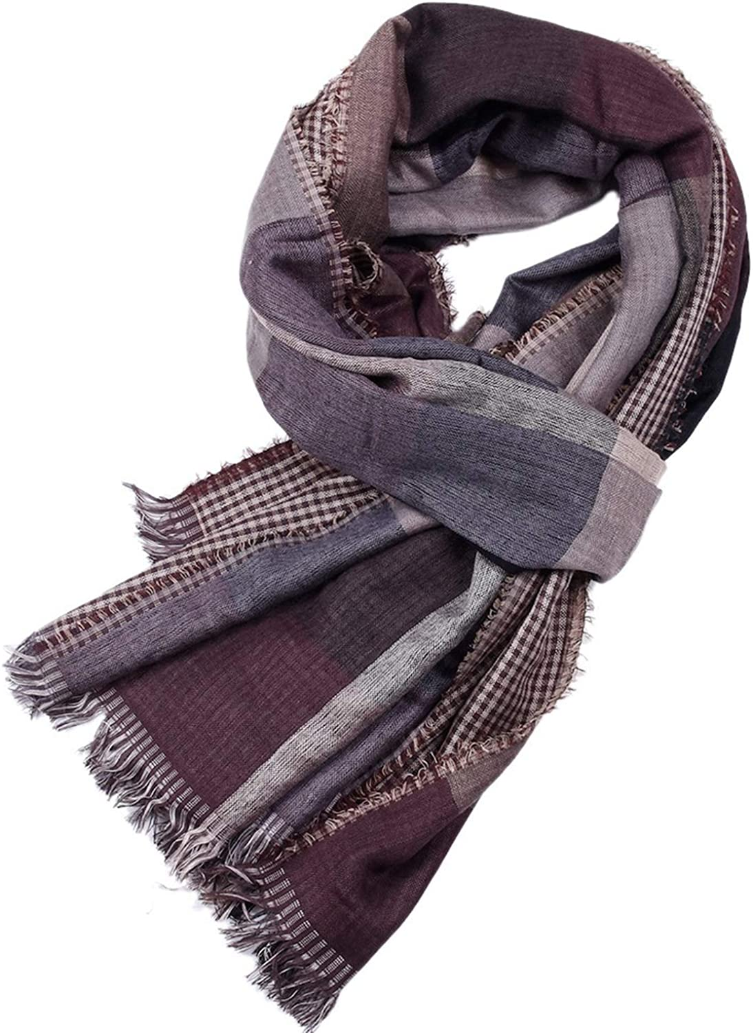 HOT-house Tie dyeing Dyed Men Scarf Autumn Soft Plaid Double Side Men Long Scarves