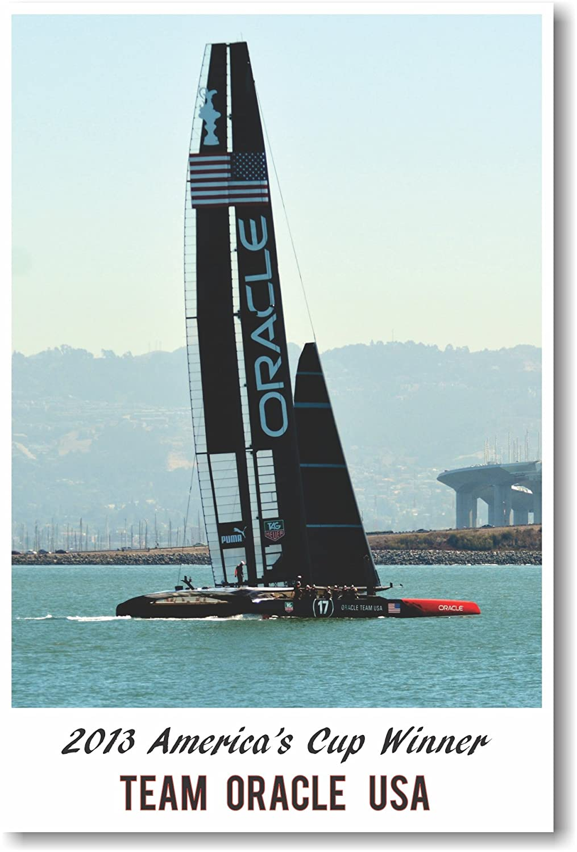 Amazon.com: 2013 Americas Cup Winner Team Oracle - NEW Sailing ...