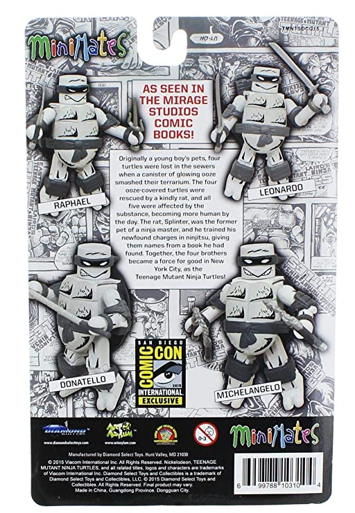 Teenage Mutant Ninja Turtles Mirage Black & White Minimates ...