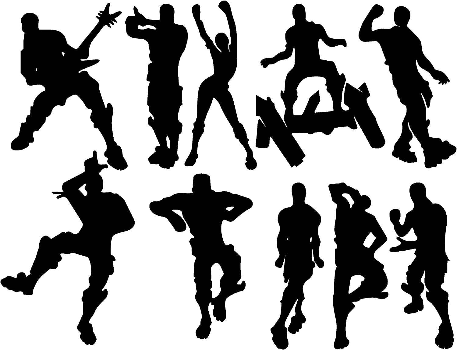 "LHKSER Game Wall Decal Wall Sticker Poster Floss Dancing Decal Nursery Boys Room Wall Vinyl Decal Game Stickers (Black)(23.6"" x 19.6"")"