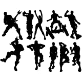 LHKSER 10 X Game Wall Decal Poster Dancing Wall Stickers Murals Peel & Stick Game Decal Baby Bedroom Home Decor Gaming…