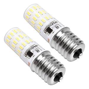 Kakanuo E17 LED Bulb Dimmable Microwave Oven Light 4 Watt Daylight White 5000K 43X4014SMD AC110-130V (Pack of 2)