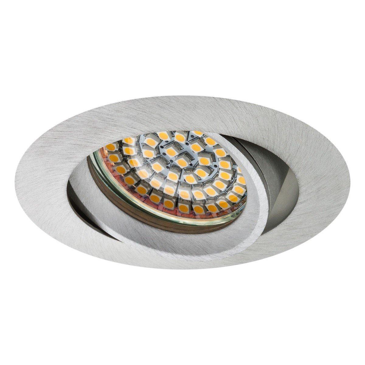 SEBSON Einbauleuchte schwenkbar silber//Einbaustrahler 12er Pack LED//Halogen