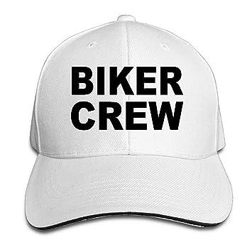 6d2d29aba5e Amazon.com   VHJLI Biker Crew Gang T-Shirt Classic Cotton Dad Hat ...