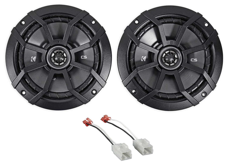 "Amazon.com: 2007-2017 Jeep Wrangler 6.5"" 600w Kicker Front Factory Speaker  Replacement Kit: Car Electronics"