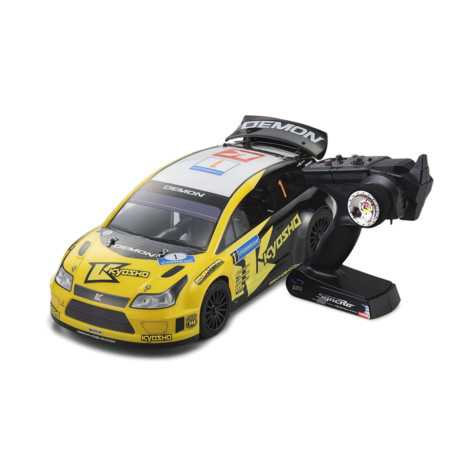 Kyosho EP 4WD R/S DRX Demon RC Car (1/9 Scale) with KT-201