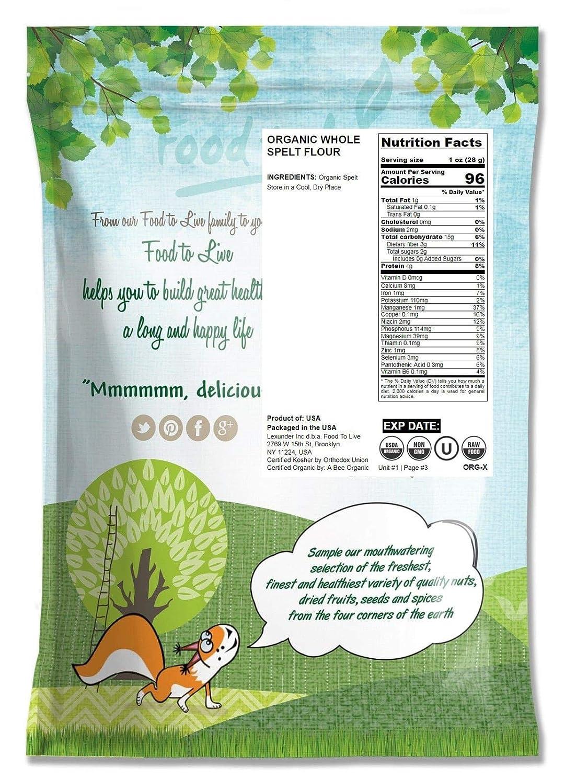 Harina de espelta orgánica, 16 Libras - Grano entero, Sin OGM ...