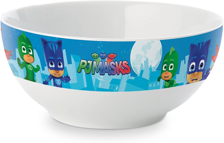 Becher Teller und Müslischale PJ Masks Frühstücksset Kunststoff 3-tlg