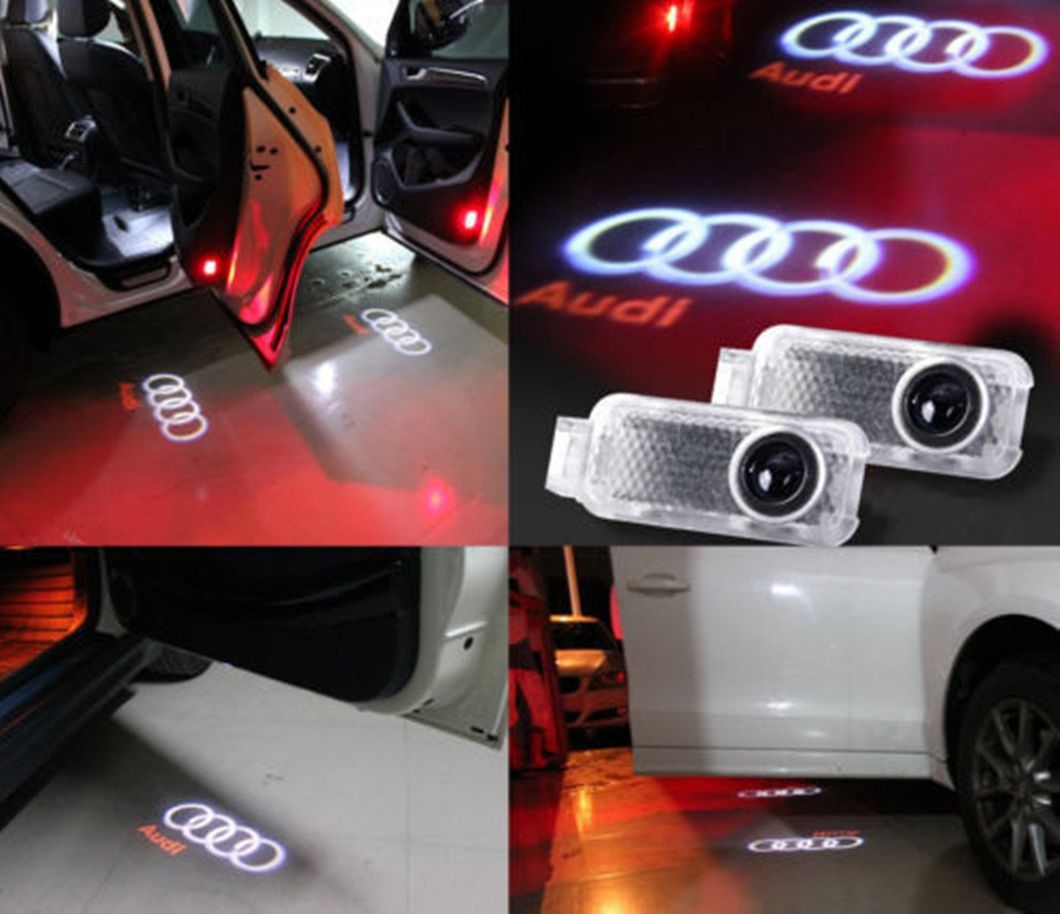 Amazon.com: LUMAND Car LED Special Projector Door Logo Shadow Welcome  Courtesy Light For Audi A1 A3 A4 A5 A6 A7 A8 Tt Q3 Q7 R8 Pack Of 2:  Automotive