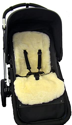 Natural Sheep Wool Liner Cover Mat For Pushchair Buggy