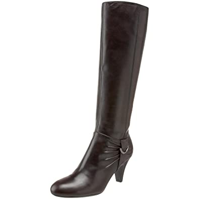 Naturalizer Women's Barstowe Wide-Calf Knee-High Boot,Oxford Brown,6.5 W