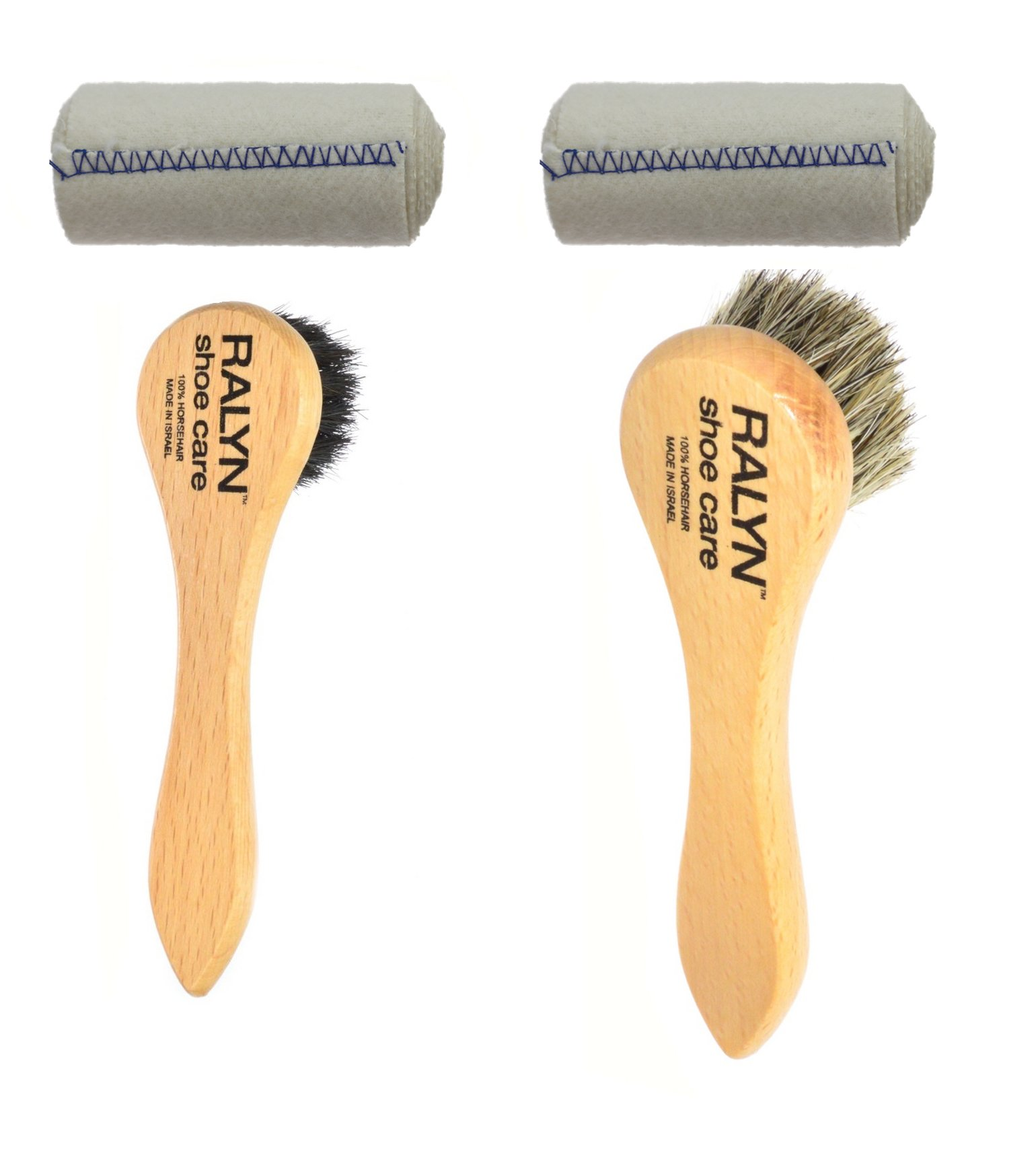 Dauber brushes dark and light bristles with shoe shine cloth. by Ralyn (Image #1)