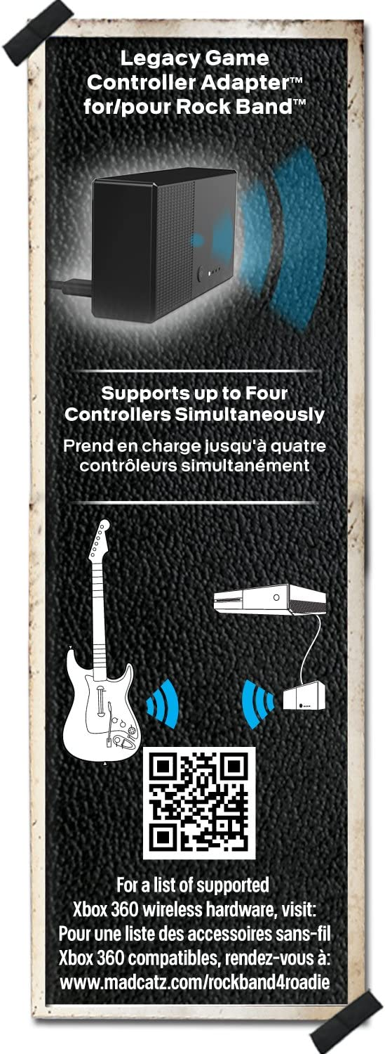 Amazon.com: Rock Band 4 - Legacy Game Controller Adapter for Xbox ...
