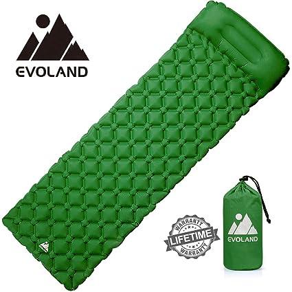 Evoland – Colchón de Camping Hinchable, colchón autoinflable colchón Inflable Playa Alfombra de Suelo de