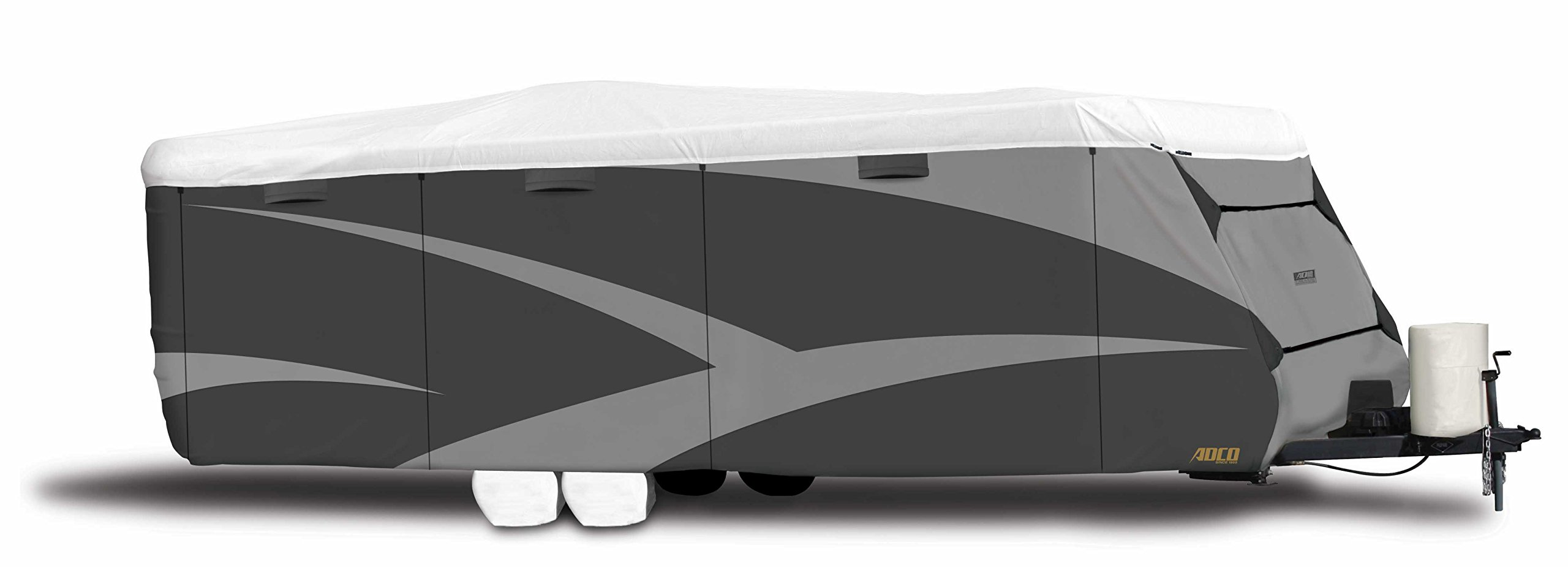 ADCO  34838 Designer Series Gray/White Upto 15' DuPont Tyvek Travel Trailer Cover