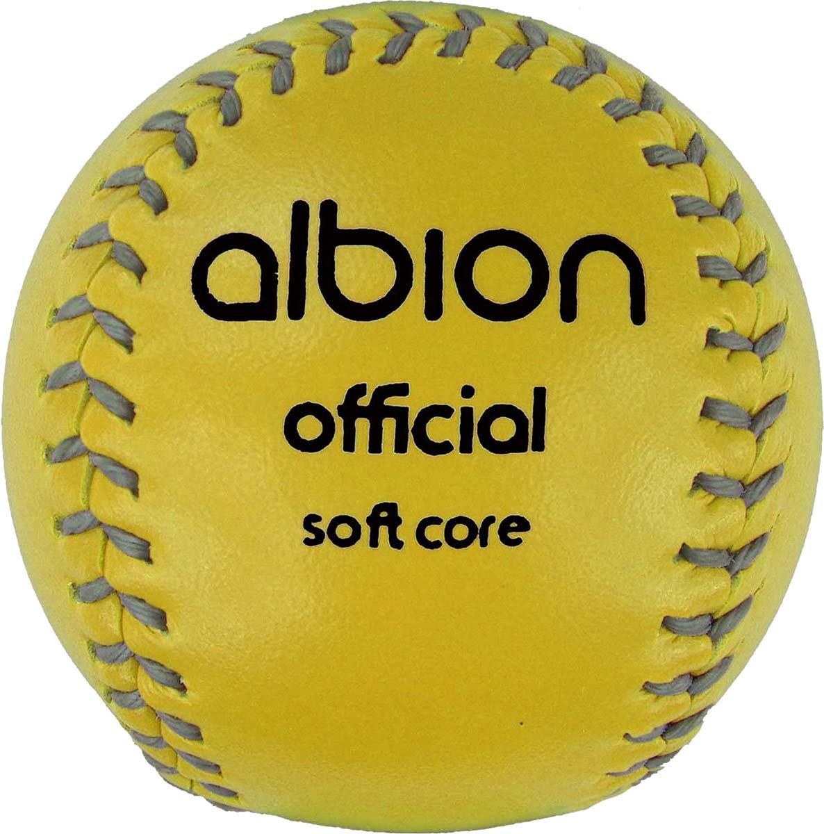 Only Cricket Albion Official Soft Core Rounders Ball Yellow