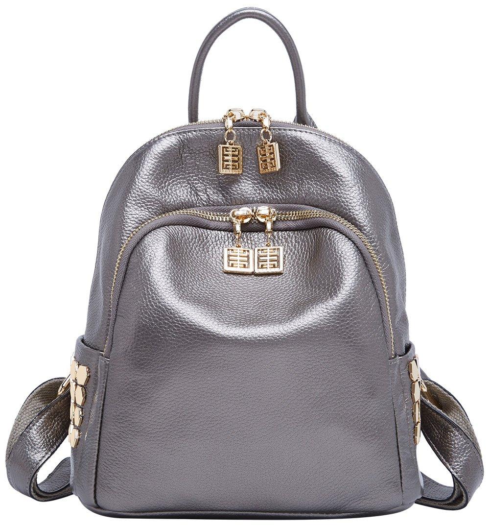 BOYATU Genuine Leather Backpack for Women Designer Mini Purse Fashion Bag