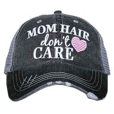 2d7628187ebd4c Amazon.com: Katydid Mom Hair Don't Care Women's Trucker Hat- Hot ...