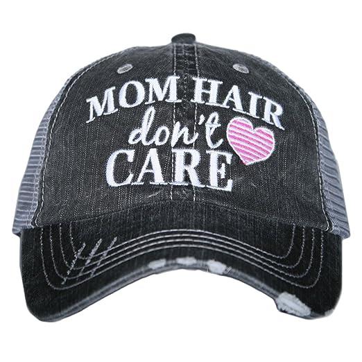 Mom Hair Don't Care Women's Trucker Hats Caps by Katydid