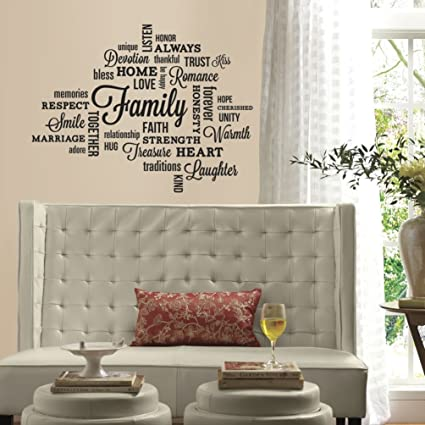 Amazon Com Lunarland Family Quotes Wall Decals Black Letter Room