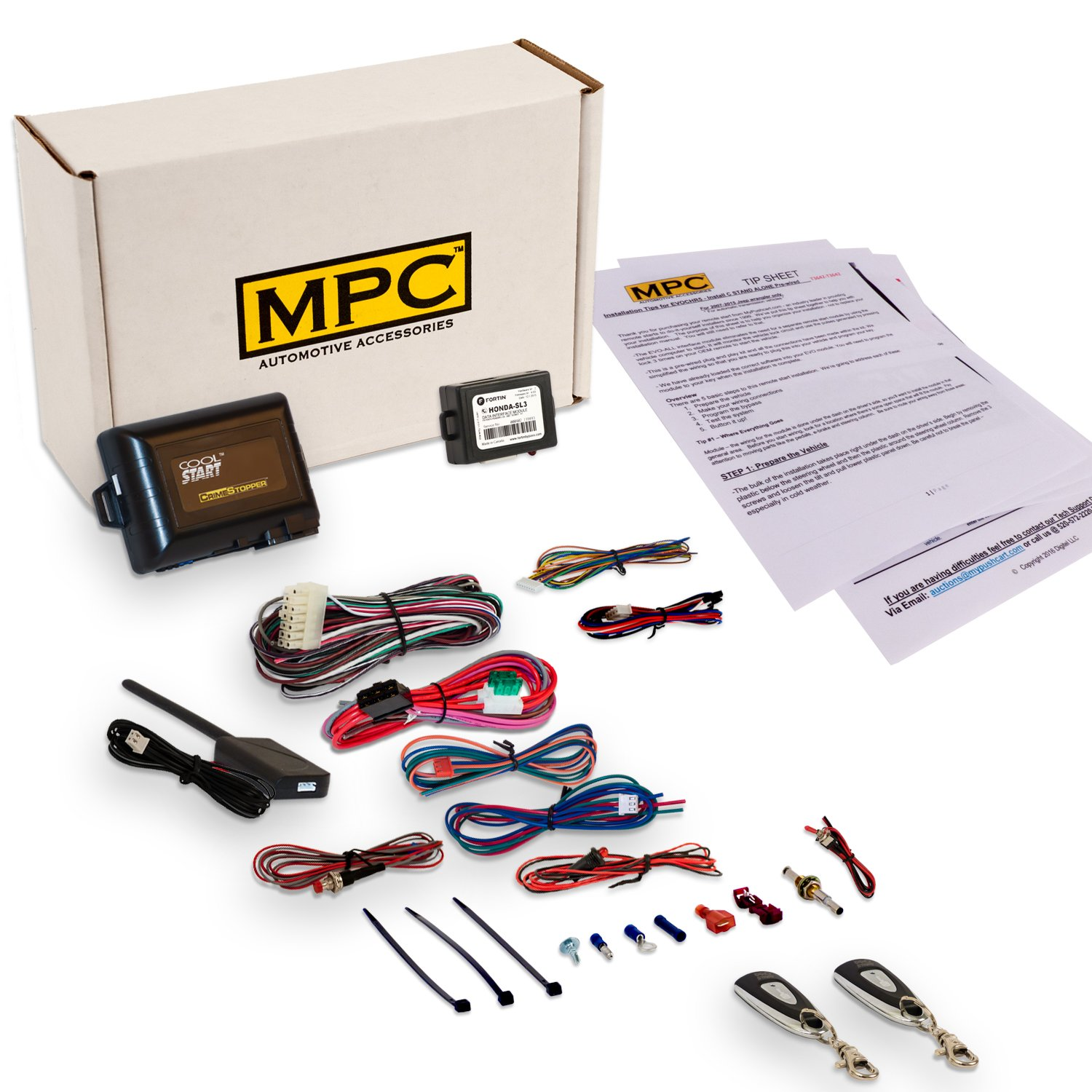Complete 1 Button Remote Start Kit For Honda And Acura Car Starter Civic Also Viper Wiring Diagram Automotive