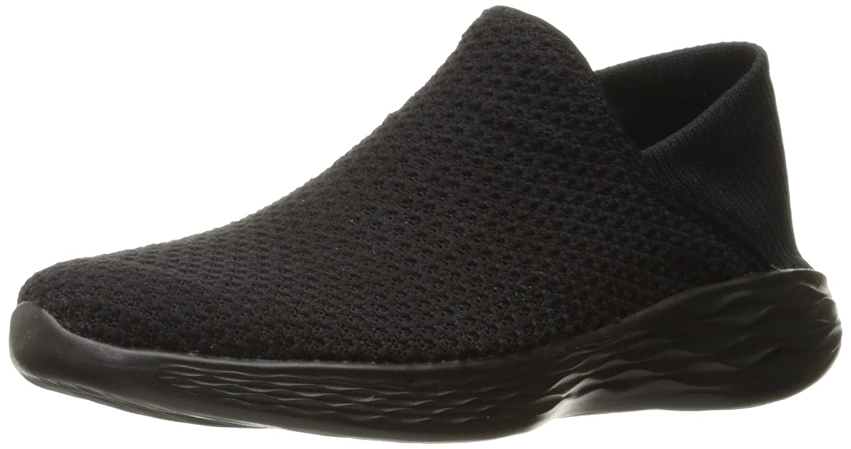 Skechers Women's You Movement Slip-On Shoe B01N6QYR2K 5 B(M) US|Black