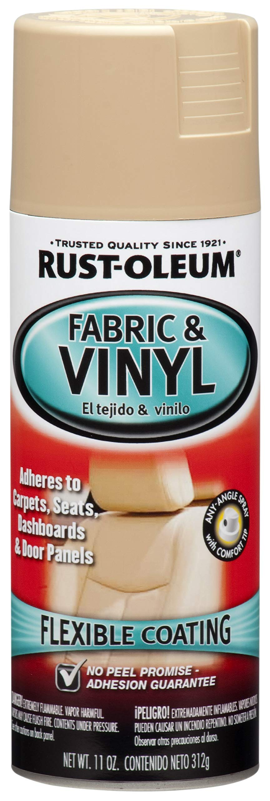Rust-Oleum 248921 Automotive Enamel Fabric & Vinyl Spray Paint, 11 Oz, Beige