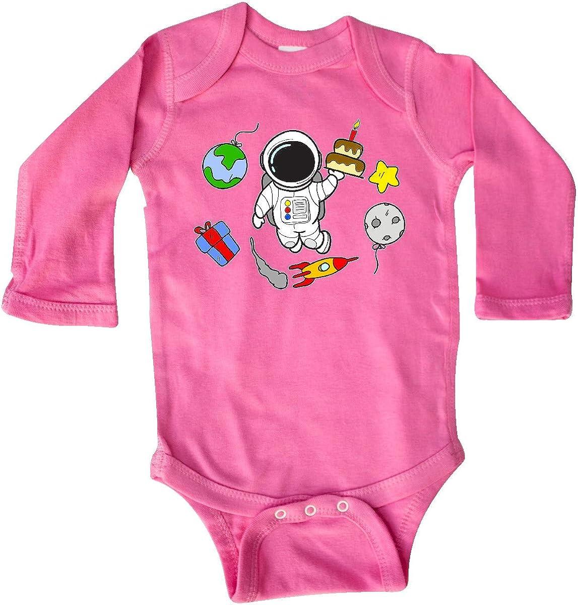 inktastic Astronaut Birthday Long Sleeve Creeper