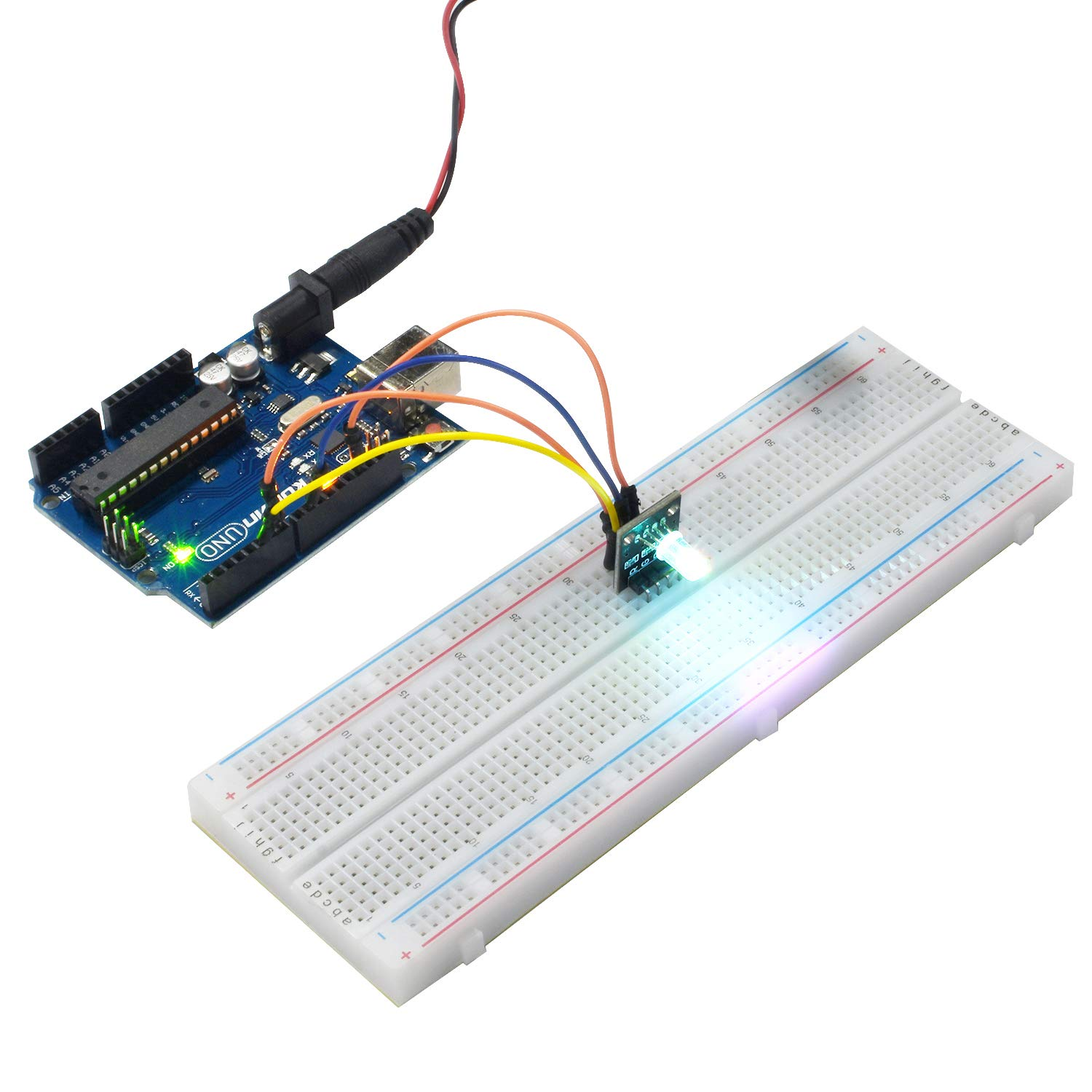 Kuman K4 Us For Arduino Project Complete Starter Kit 41 Breadboarded Led Circuit With Detailed Tutorial And Reliable Components Uno R3 Mega 2560 Robot Nano Breadboard
