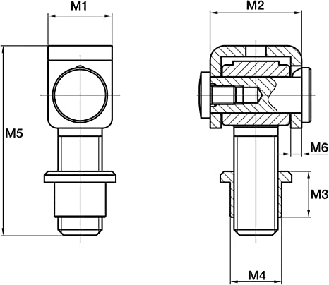 SO-TOOLS/® Torangel 83 mm mit Einschwei/ßmutter M18 verstellbar Torband Anschwei/ßband