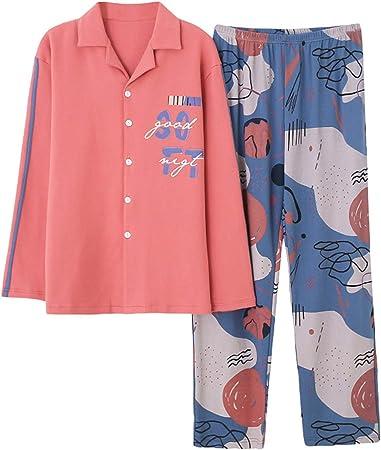 LGLE - Conjunto de pijama para hombre, de algodón, color ...