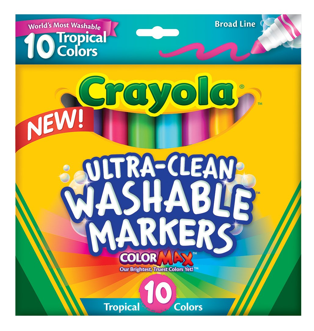 Crayola Ultraclean Tropical Markers, Broad Line