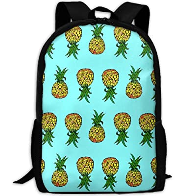 SZYYMM Pineapple Oxford Cloth Casual Unique Backpack, Adjustable Shoulder Strap Storage Bag,Travel/Outdoor Sports/Camping/School For Women And Men