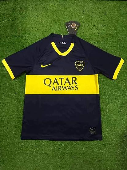 best authentic c1bc9 b6785 Amazon.com : Retro Boca Juniors Home Soccer Jersey 2019-2020 ...