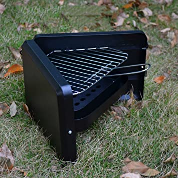 TY&WJ Aire Libre Mini Barbacoa De Carbón, Plegable Portátil Parrilla Bbq Barbecue Herramienta 1-