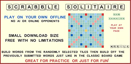 Scrabble Solitaire